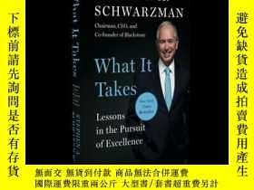 二手書博民逛書店英文原版罕見蘇世民:追求卓越的經驗之談 黑石 Stephen A. Schwarzman What It Take