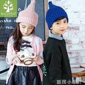 兒童毛線帽新款帽子春秋男女童針織寶寶帽子冬時尚潮 蘿莉小腳ㄚ