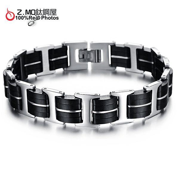 [Z-MO鈦鋼屋]優質精鋼手環/時尚造型男生手鍊/約會造型手鍊/情人節禮物單件價【CKES831】