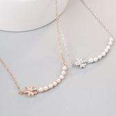 項鍊 925純銀珍珠墜子-氣質典雅情人節生日禮物女飾品2色73gx42【時尚巴黎】