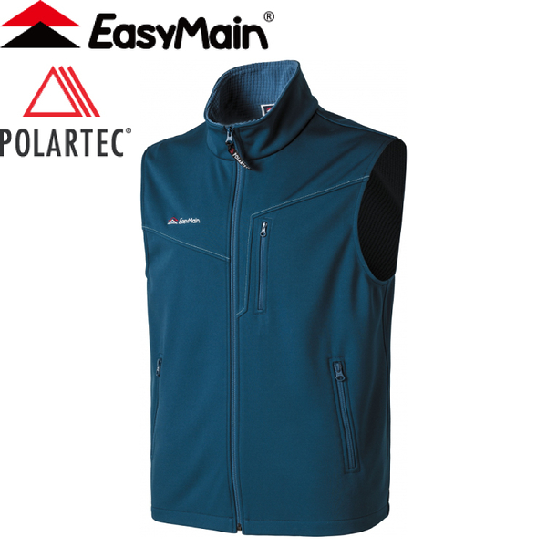 【EasyMain 衣力美 男款 頂級超輕防風透氣背心《寶藍》】VE17081/防風透氣/防潑水/快乾
