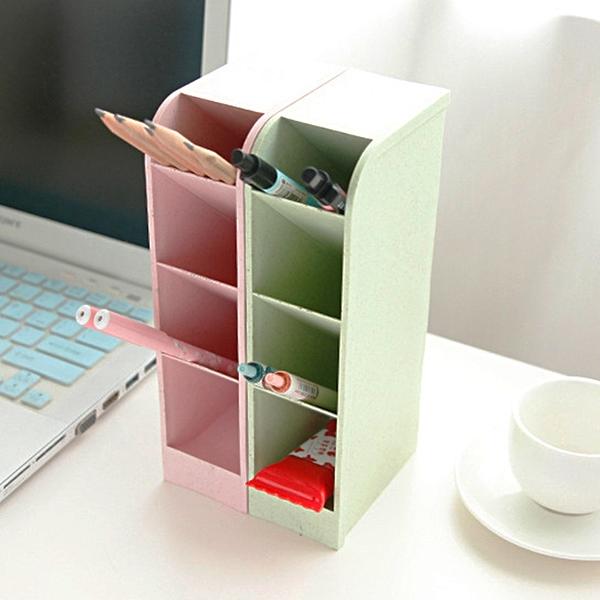 泰博思 斜插式筆筒 多功能桌上收納盒 辦公室小物 雜物文具 文具收納盒【F0410】