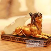 古埃及貓神獅身人面像酒架創意樹脂紅酒架家居裝飾品擺件jy【六月熱賣好康低價購】