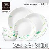 【美國康寧 CORELLE】葉之舞餐盤碗5件組(DNL0501)