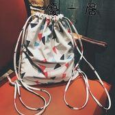 帆布抽繩後背包休閒防水束口包Y-4530