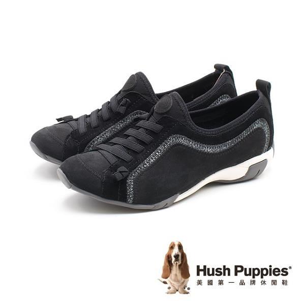 【南紡購物中心】Hush Puppies QUALIFY 彈力休閒鞋 女鞋 - 黑 (另有灰藍、粉紫)