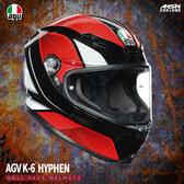 [安信騎士] 義大利 AGV K-6 彩繪 HYPHEN 黑紅白 全罩 超輕量 安全帽 亞洲版 K6