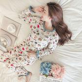 春秋季和服睡衣女冬純棉韓版清新甜美可愛夏長袖公主風家居服套裝