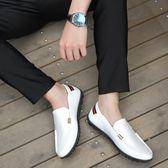 豆豆鞋 春季百搭豆豆鞋一腳蹬懶人鞋休閒皮鞋男韓版韓版潮流透氣小白鞋潮 限時八五折