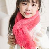 售完即止-兒童圍巾秋冬季男女童小孩純色圍脖加厚保暖可愛寶寶毛絨脖套12-20(庫存清出T)