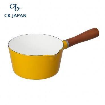 CB Japan 北歐系列琺瑯原木單柄牛奶鍋-芥末黃