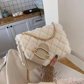 毛毛包ina超火毛毛包包女包2020新款秋冬洋氣百搭側背包挎包毛絨斜背包 春季上新