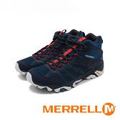 MERRELL(男)MOAB FST 2 MID GORE-TEX中筒防水健行鞋 男鞋 -藍紅