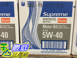 [COSCO代購] CHEVRON SUPREME MOTOR OIL CHEVERON SN全合成機油5W/40 ERRO 6入/946ML _C1034335