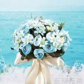 手棒花 韓式手捧花真花球新娘仿真結婚鮮花小清新森系高檔中國風歐式婚禮 至簡元素