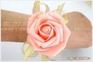 幸福朵朵*【韓風手腕花(粉橘色款)】新娘伴娘/新秘造型裝飾配件/跳舞表演拍照道具/畢業典禮