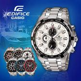 CASIO手錶專賣店 卡西歐  EDIFICE EF-539D-7A 男錶 三眼計時 防水100米 礦物玻璃 碼錶不鏽鋼錶帶