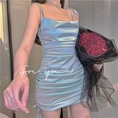 A字裙 性感顯瘦修身小吊帶連衣裙女春夏季氣質辣妹包臀短裙2021新款裙子 夢藝家