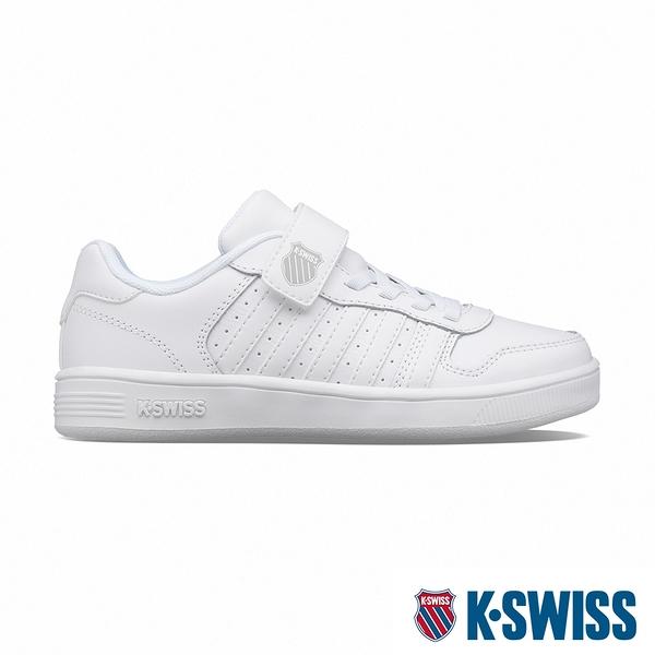 【超取】K-SWISS Court Palisades Strap時尚運動鞋-童-白