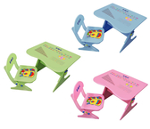 EMC可升降學習桌(一桌一椅)(水藍、粉紅)【德芳保健藥妝】