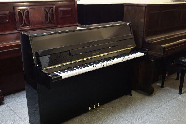 【HLIN漢麟樂器】-日本原裝kawai河合123號直立式中古二手鋼琴-原木-亮黑-豪華31