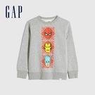 Gap男童 Gap x Marvel 漫威系列圓領休閒上衣 657565-淺灰色