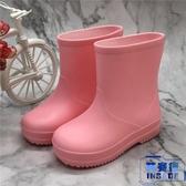 素色兒童雨鞋幼稚園女童水鞋男童雨靴防滑中小童水靴【英賽德3C數碼館】