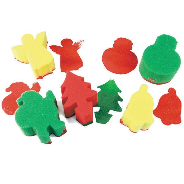 海綿印章-聖誕主題 兒童幼兒教具教學道具彩繪著色畫圖用具親子同樂綜合活動藝術與人文