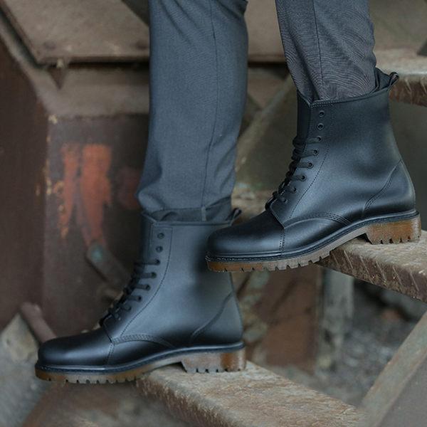 【809】歐美時尚男款馬丁雨靴 磨砂防滑PVC休閒膠鞋