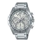 CASIO EDIFICE Bold 系列 剛勁立體大尺寸計時錶(EFR-571MD-8AV)-銀x51mm