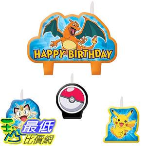 [美國直購] 神奇寶貝 精靈寶可夢周邊 Pokemon 171844 Pikachu Birthday Candles 4 Pc