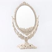 化妝鏡臺式鏡子桌面梳妝鏡家用臥室女大號美妝雙面北歐歐式公主鏡 韓國時尚週
