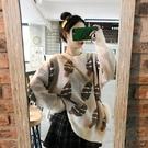 聖誕毛衣2019秋冬韓版減齡洋氣圣誕樹提花網紅寬鬆慵懶風外穿毛衣女潮 雲朵走走