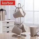 korbor 馬克杯架水杯掛架咖啡杯架紅酒玻璃杯架廚房置物架茶杯架 小明同學