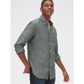 Gap男裝休閒舒適單口袋長袖襯衫526256-綠色