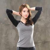 瑜伽服女長袖上裝寬鬆單件上衣運動速乾修身跑步健身服