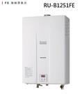 【歐雅系統家具】林內 Rinnai 強制排氣式12L熱水器 RU-B1251FE