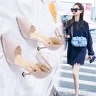 百搭中跟單鞋女鞋子女士小皮鞋女高跟鞋女2020年新款夏季涼鞋細跟 依凡卡時尚