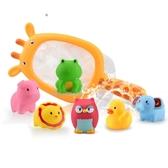 全館83折 寶寶洗澡玩具嬰幼兒童男孩女孩捏捏叫噴水戲水撈魚0-1-3歲6個月