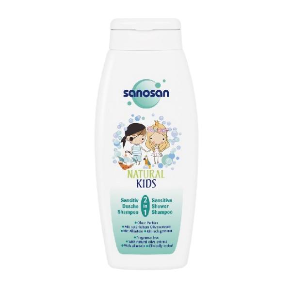 德國 珊諾 sanosan natural kids系列-天然清新香洗髮沐浴露250ml