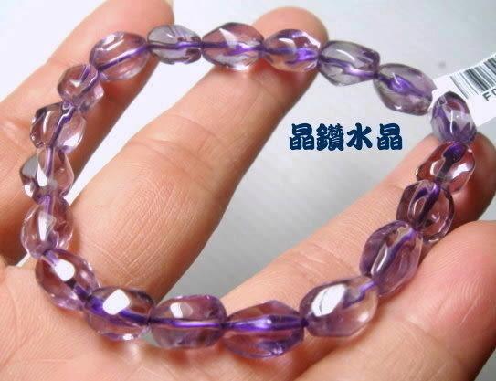 天然紫水晶手鍊~早期商品亮透度超棒 12.5-15公克-送禮物佳選*免運費