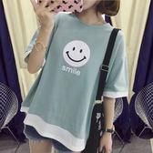 夏裝新款韓版加肥加大碼200斤胖mm寬鬆學生短袖T恤女上衣服中袖bf 後街五號