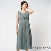 ❖ Autumn ❖ 開襟收腰抓皺感背心洋裝 (提醒➯SM2僅單一尺寸) - Sm2