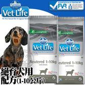 【ZOO寵物樂園】(免運)(送刮刮卡*1張)法米納》VetLife獸醫寵愛天然處方絕育犬用配方(1~10kg)-2kg