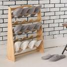松井實木五層鞋叉[十雙]【JL精品工坊】鞋架 鞋櫃 鞋叉 穿鞋椅 拖鞋收納