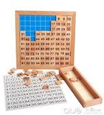 數學益智早教玩具2-3-4歲寶寶兒童學習1-100數字拼圖卡片智力 深藏blue