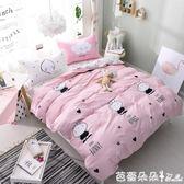 被套 卡通可愛少女床上四件套純棉小清新全棉簡約被套床單1.8m床 雙人【芭蕾朵朵】YTL