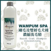 *KING WANG*【折扣碼Yahoo2019享9折】【wampum SPA】剛毛及雙層毛犬種用濃縮洗毛精-250ML