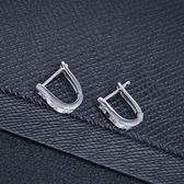 耳環 925純銀鑲鑽銀飾-簡約百搭設計生日情人節禮物女飾品73dy96【時尚巴黎】