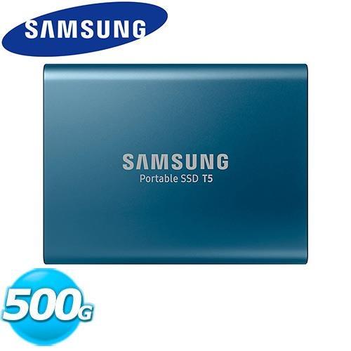 SAMSUNG三星 SSD Por SSD T5 500GB 移動式固態硬碟【原價 2630 ▼現省$ 942】